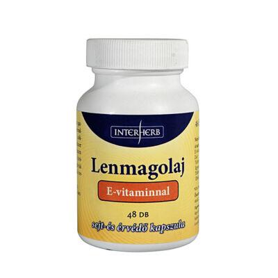 Lenmagolaj kapszula E-vitaminnal 48 db Interherb