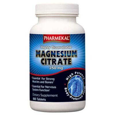 Magnézium-CITRÁT 250 mg 100 db Pharmekal