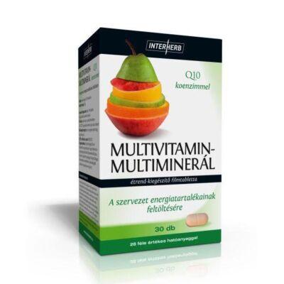 Multivitamin-Multiminerál +Q10 tabletta 30 db Interherb
