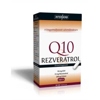 Q10 & Rezveratrol kapszula 30 db Interherb