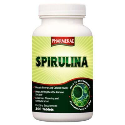 Spirulina alga tabletta 500mg 200db Pharmekal