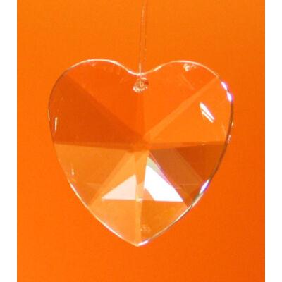 Szív szivárványkristály - nagy (40mm)