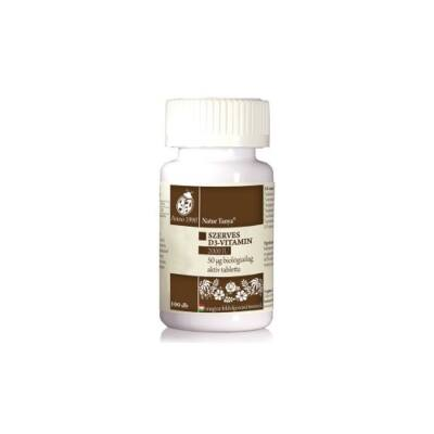 Szerves D3 vitamin tabletta 100 db Naturtanya