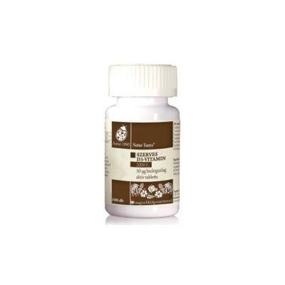 Szerves D3 vitamin tabletta 2000 NE 100 db Naturtanya