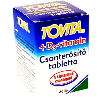 TOVITA +D3-vitamin csonterősítő tabletta 60db