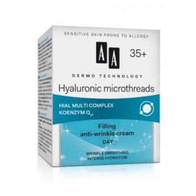 AA DERMO TECHNOLOGY Hialuron mikroszálak - intenzíven hidratáló nappali krém 35+