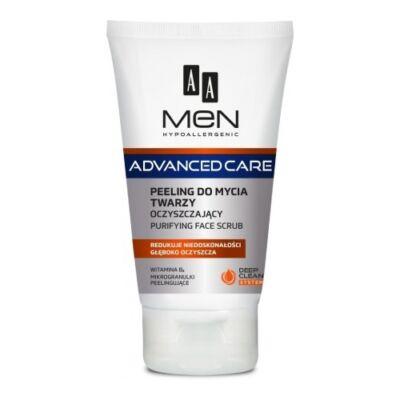 AA Men Advanced Care - arctisztító arcradír (peeling) 150ml