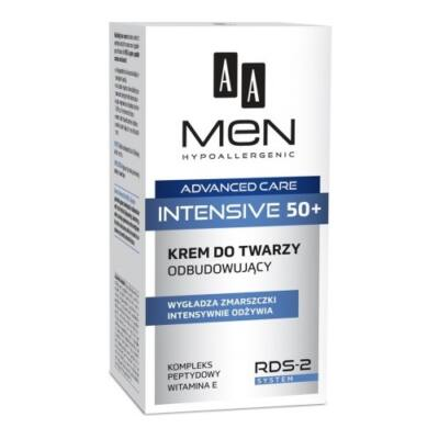 AA Men Advanced Care Intensive 50+ - újjáépítő arckrém 50ml