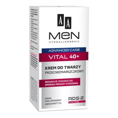AA Men Advanced Care Vital 40+ - ránctalanító arckrém 50ml