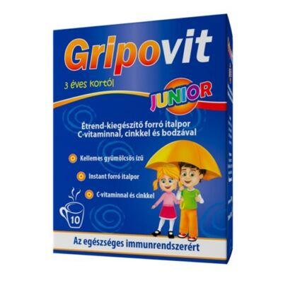Gripovit Junior italpor C-vitaminnal, cinkkel és bodzával 10 tasak
