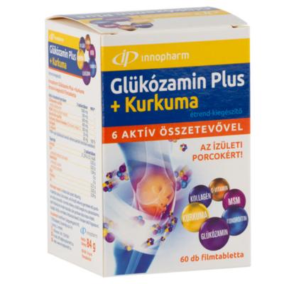 Innopharm Glükózamin Plus + kurkuma fillmtabletta 60db