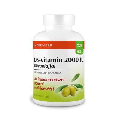 INTERHERB XXL D3-vitamin 2000 IU lágyzselatin kapszula 90db