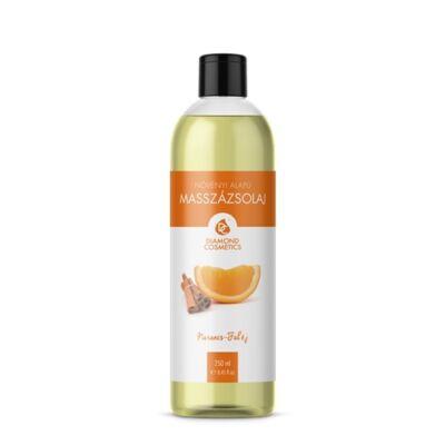 Narancs-Fahéj illatú masszázsolaj 250ml Diamond Cosmetics