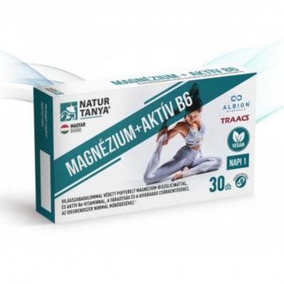 Natur Tanya®Vegán MAGNÉZIUM + AKTÍV B6 kapszula 30 db