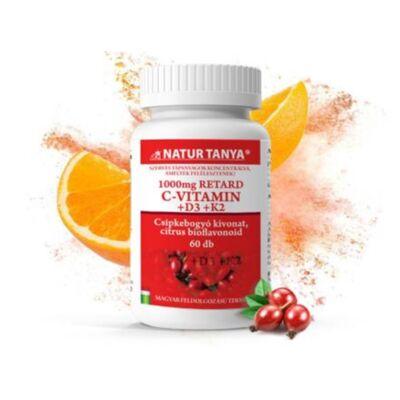 Natur Tanya® C+D3+K2 vitamin tabletta 100db