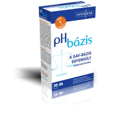 pH bázis lúgosító tabletta 30db Interherb