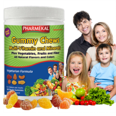 Pharmekal Gummy Chews - Multi-Zöldség-Gyümölcs Gumivitamin 180db