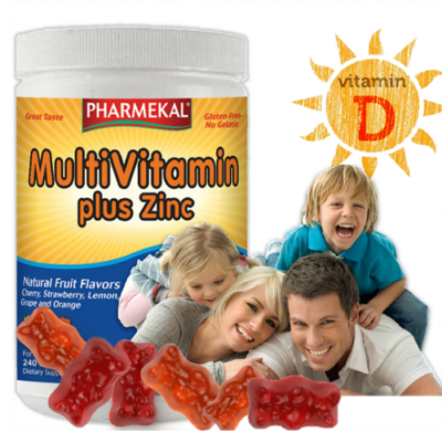 Pharmekal Multivitamin + D3 + Cink Gumivitamin 240db