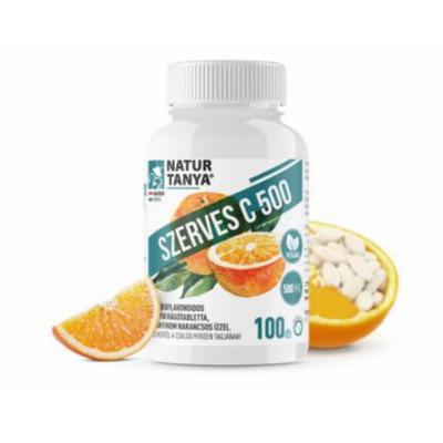 Natur Tanya® C-vitamin rágótabletta. 500mg citrus bioflavonoidokkal, narancs ízben