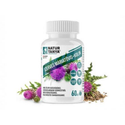 Szerves Máriatövismag kivonat tabletta kolinnal 60 db Naturtanya